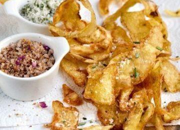 Kartoffelschalen mit Rosmarinsalz
