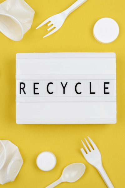 flat-lay-recycling-concept